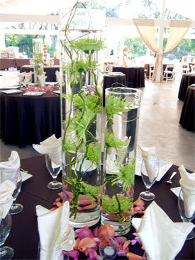Flowers & Decor, Centerpieces, Flowers, Roses, Accents, Centerpiece, Curly, Submerged, Willow