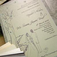 Stationery, invitation, Invitations, Wedding, Tree, Rhinestone, Momental designs
