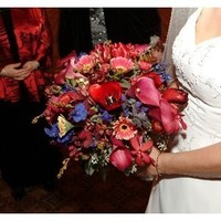 Flowers & Decor, burgundy, blue, Bride Bouquets, Flowers, Bouquet, Calla, Lilies, Brides, Orchids, Ranunculus, Burgunsy, Belladona