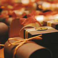 Favors & Gifts, brown, gold, favor, And, Boxes