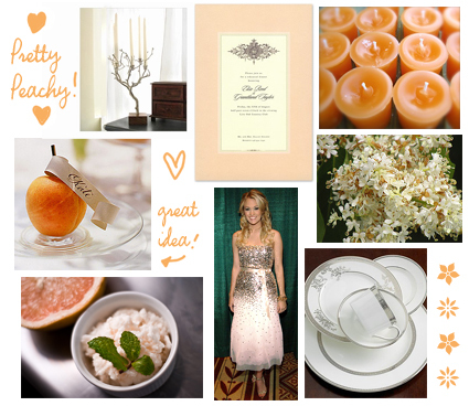 Inspiration, Flowers & Decor, Decor, white, orange, silver, Board, Peach and gray