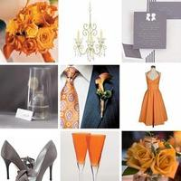Inspiration, Flowers & Decor, Decor, white, orange, silver, Grey, Peach, Board, Peach and gray