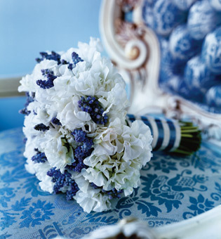 Flowers & Decor, Bride Bouquets, Flowers, Bouquet, Blue and white