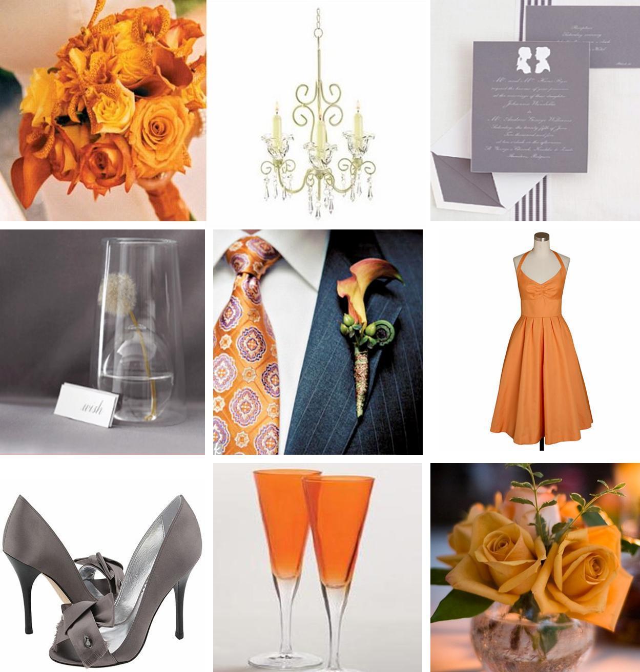 Inspiration, Flowers & Decor, Decor, white, orange, silver, Grey, Peach, Board, Peach and gray