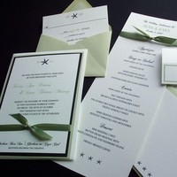 Reception, Flowers & Decor, Stationery, Invitations, Menus, Cards, Custom, Starfish, Place, Note, Paperclip, Brass