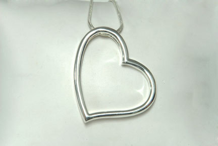 Jewelry, silver, Necklaces, Necklace, Heart, Inspirations by diane