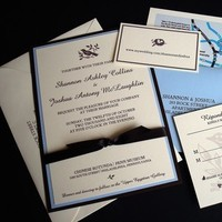 Stationery, Invitations, Reply Cards, Map, Custom, Rsvp, Directions, Paperclip, Brass