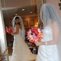 Wedding Dresses, Fashion, yellow, orange, pink, dress, Bride, Bouquet