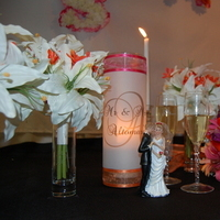 Flowers & Decor, orange, pink, Bride Bouquets, Flowers, Bouquet, Candle