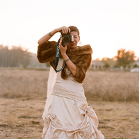 Wedding Dresses, Vintage Wedding Dresses, Fashion, brown, dress, Vintage, Bride, Wedding, Fur, Elizabeth, Valley, Ojai, Messina