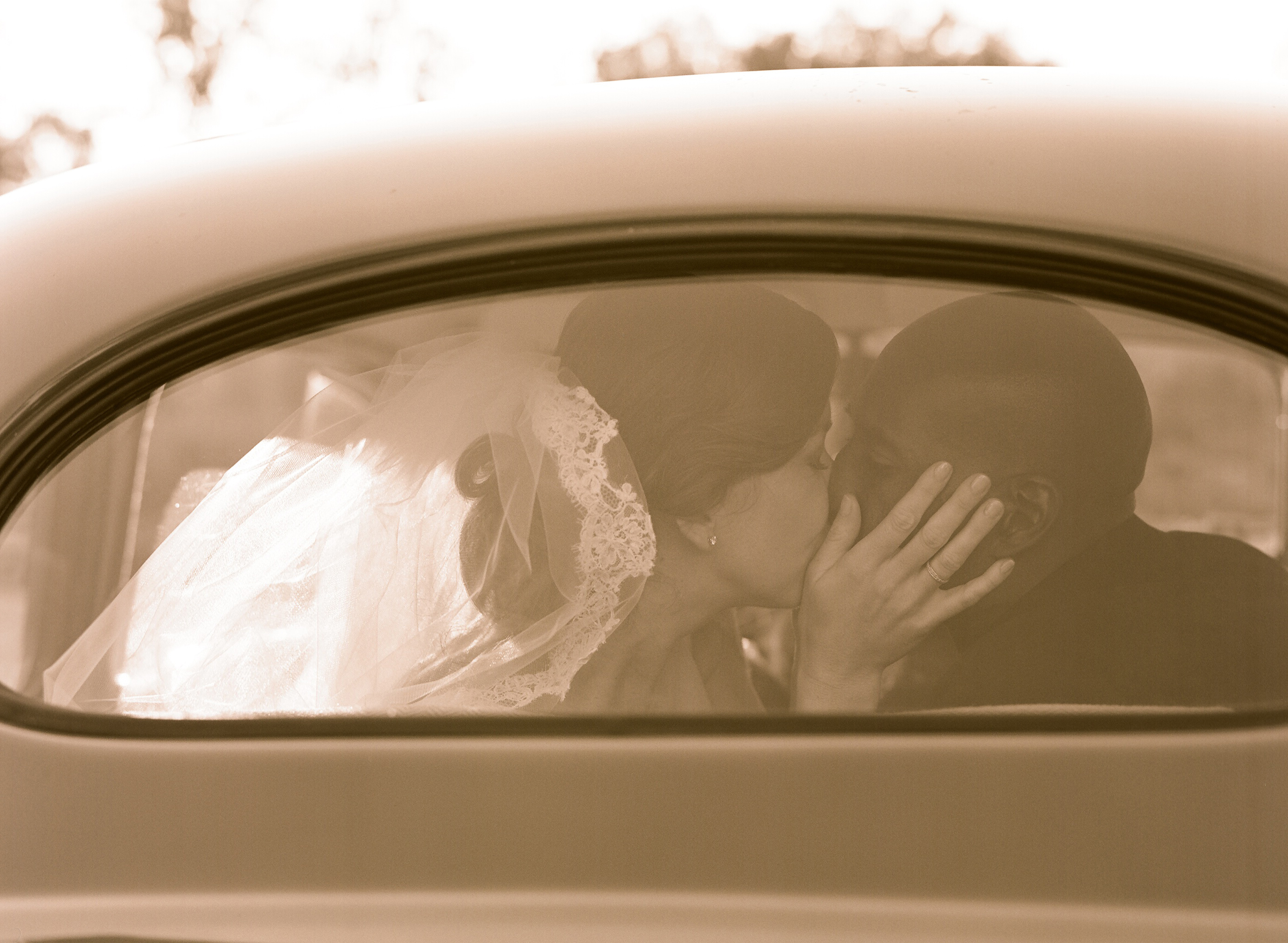Vintage, Bride, Groom, Wedding, Car, Elizabeth, Valley, Ojai, Messina