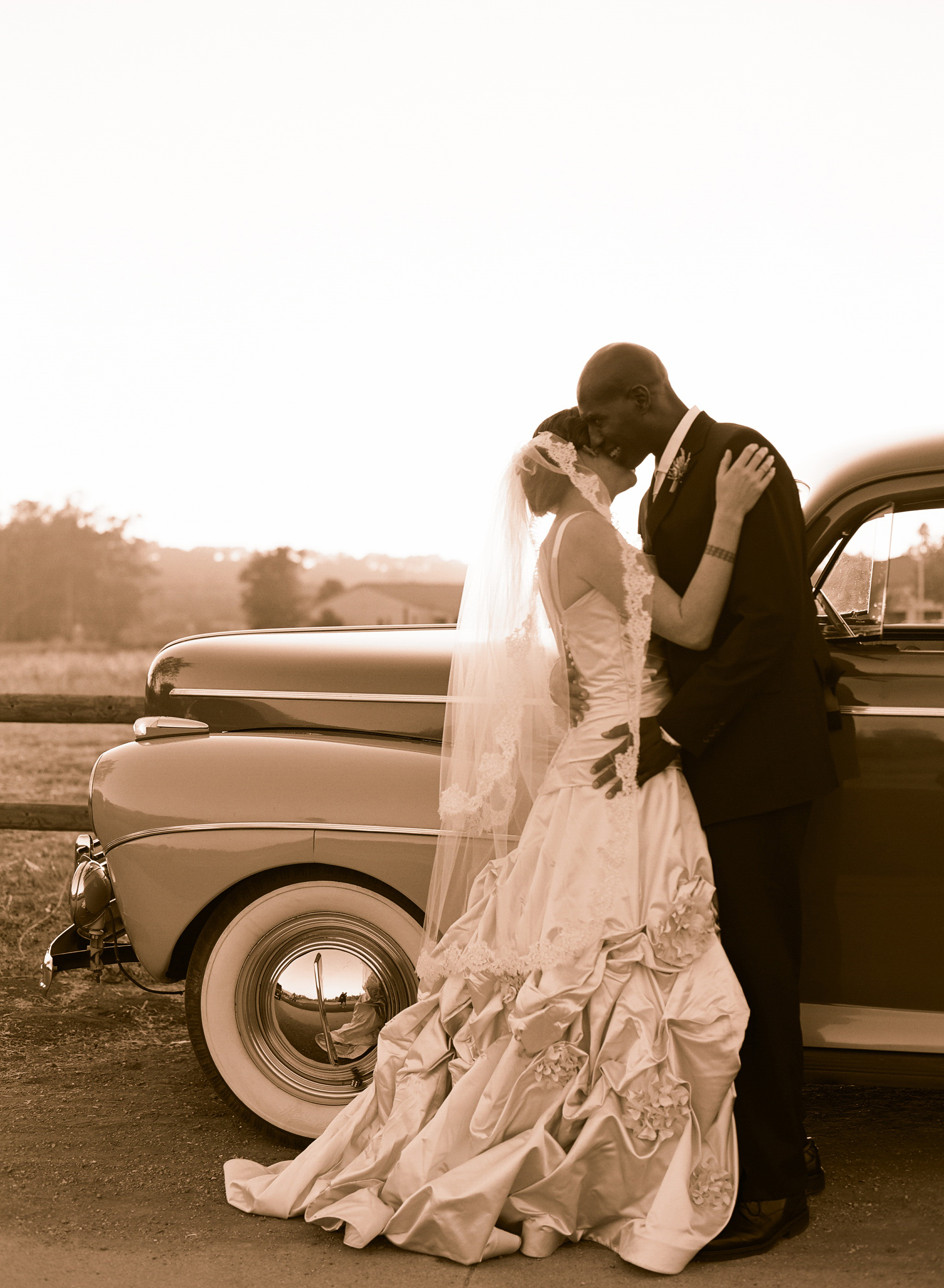Photography, Vintage, Wedding, Car, Elizabeth, Valley, Ojai, Messina