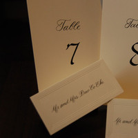 Stationery, Place Cards, Table, And, Placecards, Numbers, The left handed calligrapher
