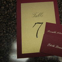 Stationery, Place Cards, Table, Placecards, Numbers, The left handed calligrapher