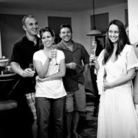 Reception, Flowers & Decor, ivory, Toast, Champagne, Friends, Candid, Ginatonyphotographers