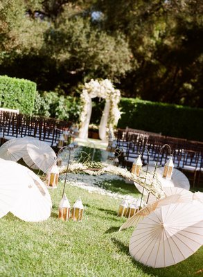 Ceremony, Flowers & Decor, white, pink, green, Ceremony Flowers, Flowers, Parasols, Decoration