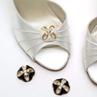 Flowers & Decor, Wedding Dresses, Shoes, Fashion, ivory, silver, dress, Accessories, Flower, Bridal shoes, Designer, Attire, Rhinestones, Absolutely audrey, Footwear, Stilettos, Shoe clips, Bridesmaids shoes