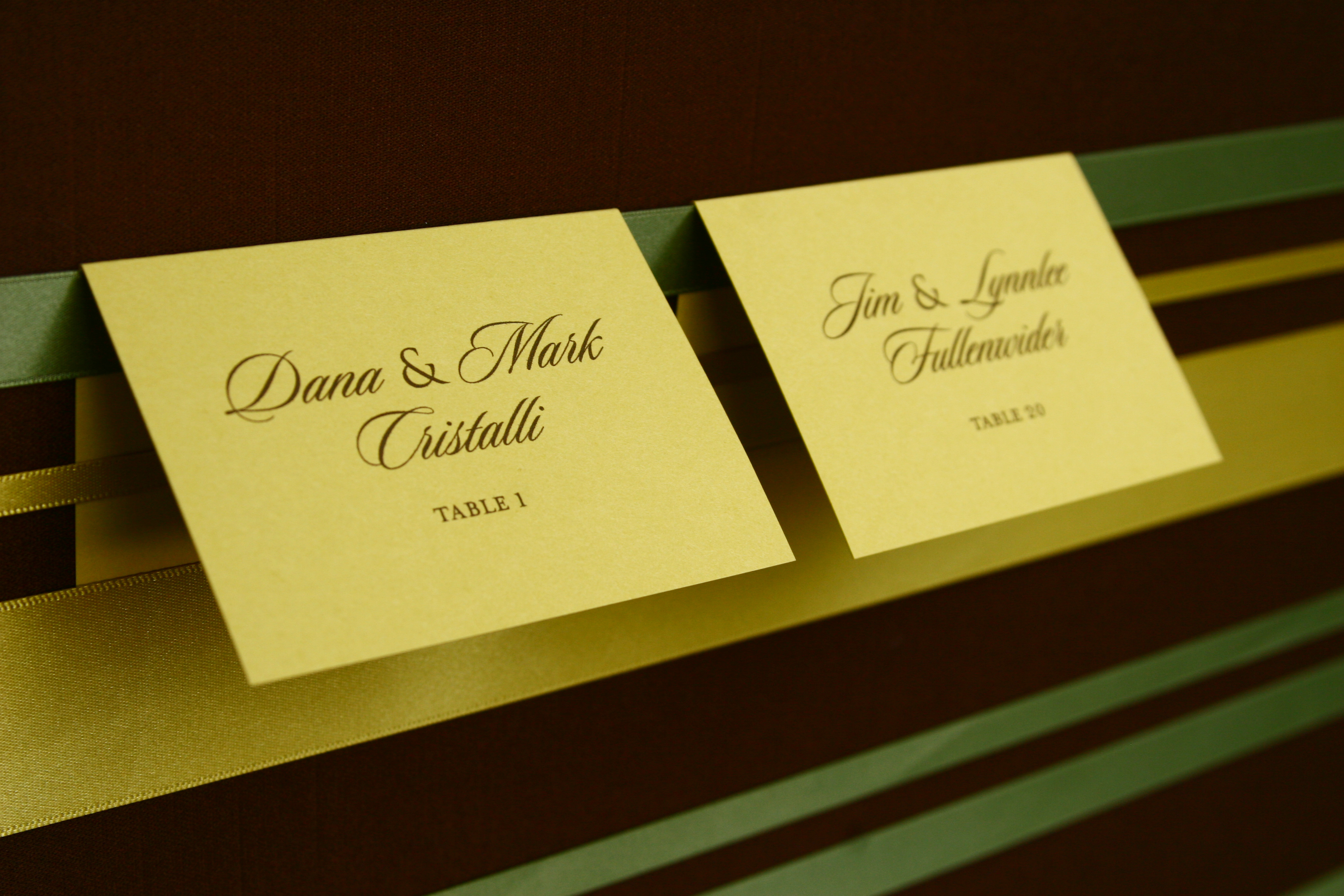 Stationery, green, Modern, Place Cards, Custom, Placecards, Satin, Design, Seating, Maida vale