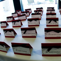 Stationery, red, black, Place Cards, And, Placecards
