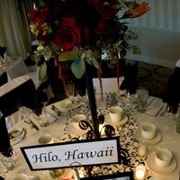 Flowers & Decor, Centerpieces, Flowers, Centerpiece, Table, Runner, Damask, Candelabra
