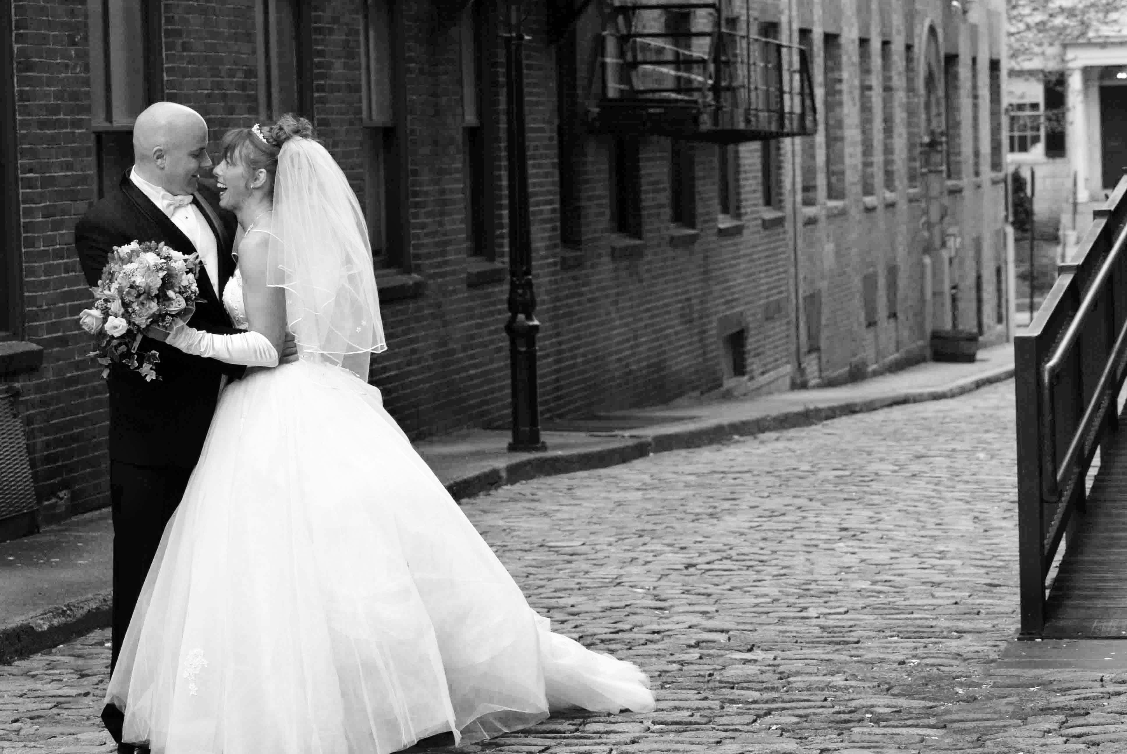 white, black, And, Couple, Laughing, Zenobia photography studios, Cobblestone