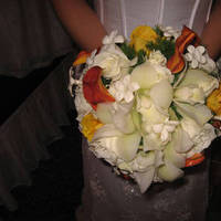 Flowers & Decor, white, yellow, orange, Bride Bouquets, Flowers, Bouquet, Bridal