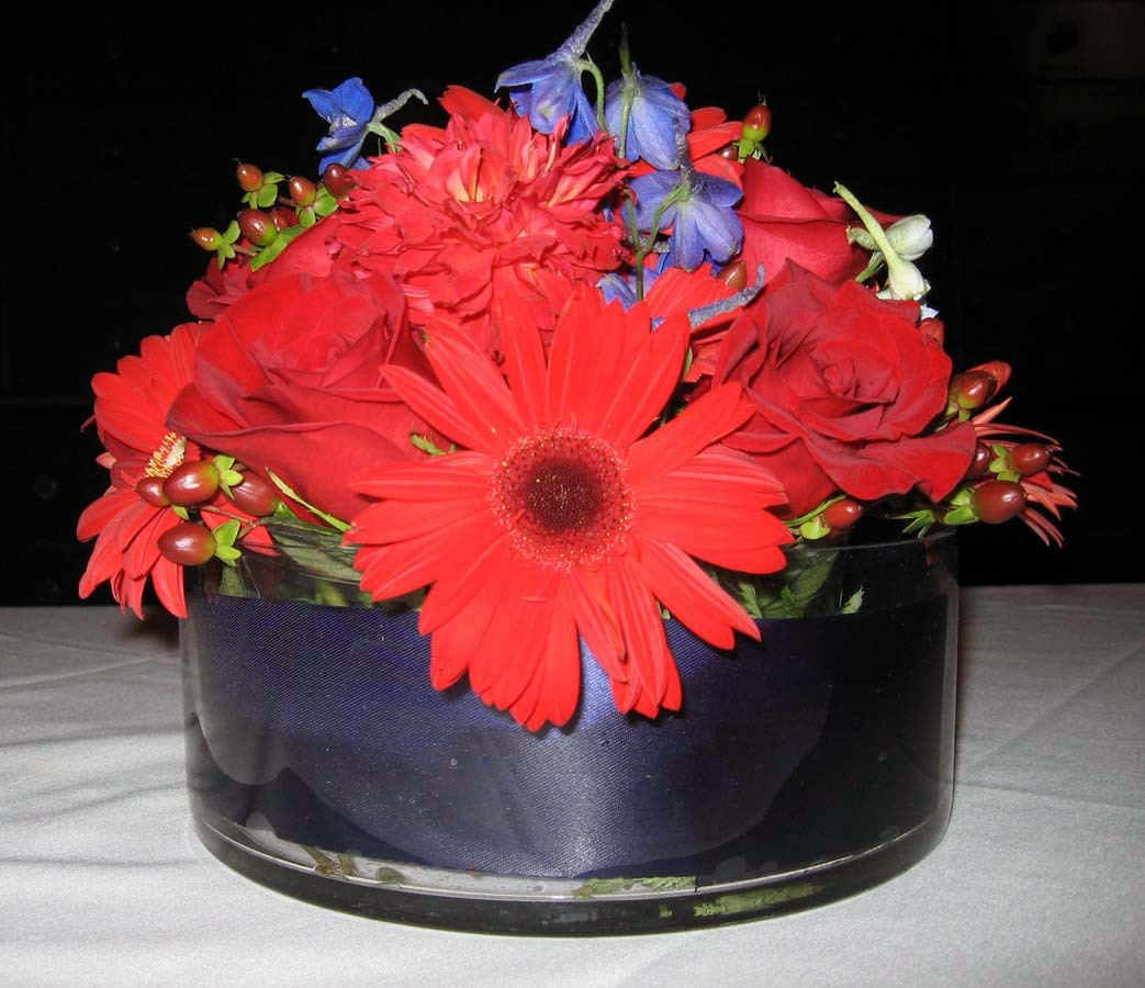 red, blue, Centerpiece, Navy