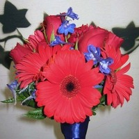 Flowers & Decor, red, blue, Bride Bouquets, Flowers, Bouquet, Brides, Maids, Navy