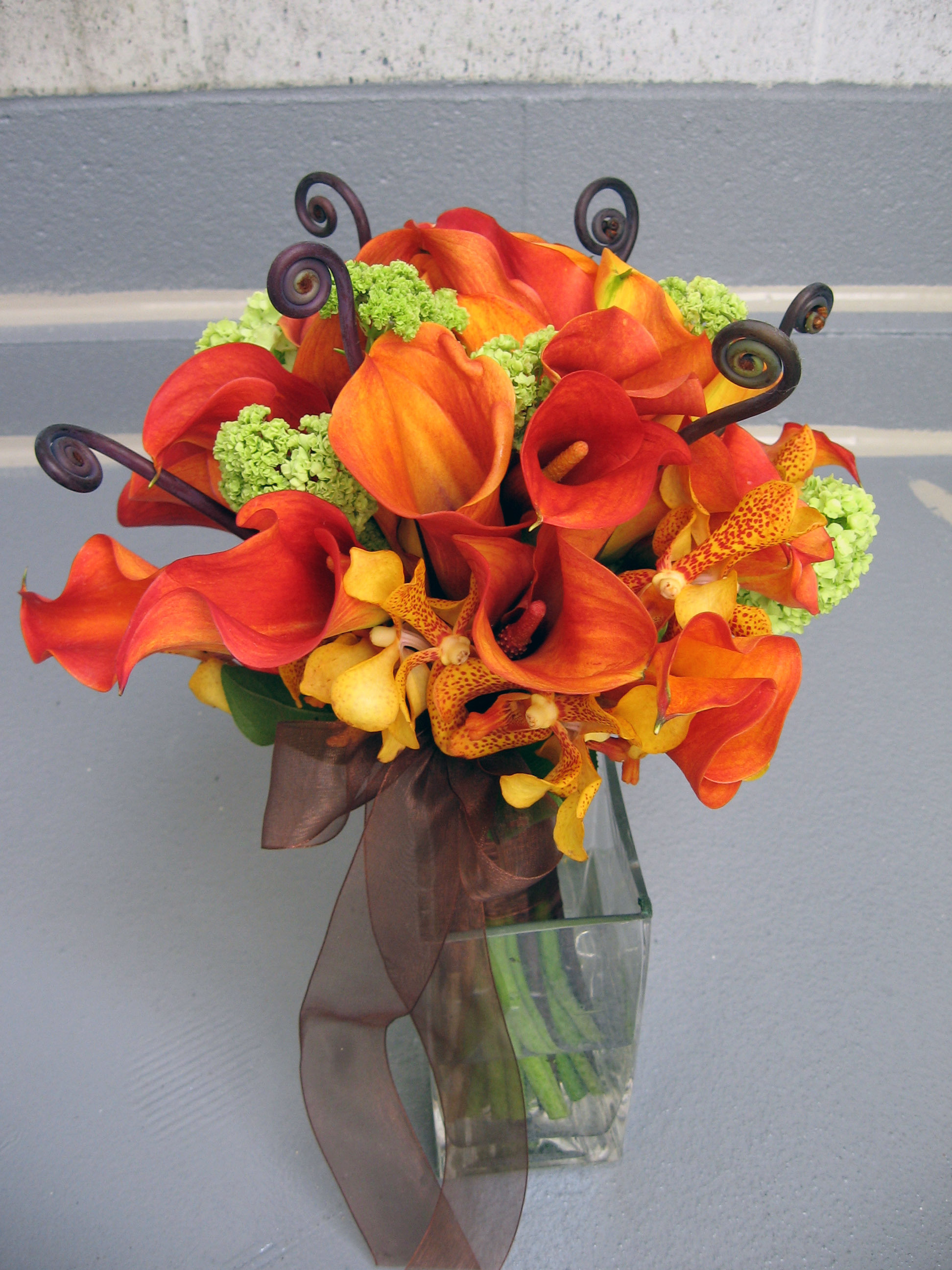Flowers & Decor, orange, green, brown, Bride Bouquets, Flowers, Bouquet, Bridal