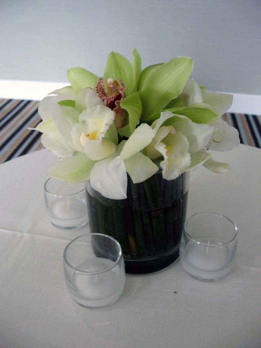 Flowers & Decor, white, green, Tables & Seating, Cocktail, Tables