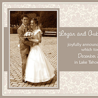 Stationery, Announcements, Wedding, Announcement, Marriage, 5 star graphic design