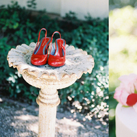 Shoes, Cakes, Fashion, red, cake, Myrtle marjoram, Birdbath