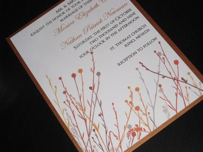 Stationery, invitation, Fall, Invitations, Wedding, Metallic, The stylish scribe