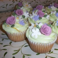 Flowers & Decor, purple, Flowers, Fondant, Cupcake, Cake-cakes