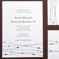 Stationery, black, Invitations, Letterpress, Papeterie