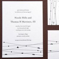 Stationery, black, Invitations, Letterpress, Papeterie
