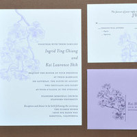 Stationery, purple, invitation, Invitations, Orchid, Letterpress, Papeterie