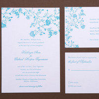 Stationery, blue, invitation, Invitations, Letterpress, Papeterie