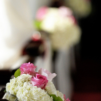 Ceremony, Flowers & Decor, brown, Ceremony Flowers, Flowers, Roses, Romantic, Teal, Cream, Hydrangeas, Contemporary