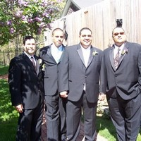 Fashion, Men's Formal Wear, Groomsmen, Groom, Wedding, Tux, Dj, Outside, Ramu the crew