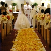 Ceremony, Flowers & Decor, ivory, yellow, orange, Ceremony Flowers, Aisle Decor, Flowers, Aisle, Runner