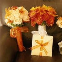 ivory, yellow, orange, Bouquets