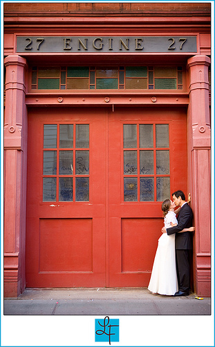 Bride, City, Groom, Portrait, And, York, New, Lindsay flanagan photography