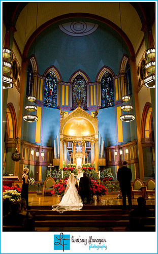 Ceremony, Flowers & Decor, Bride, Groom, Wedding, Church, Lindsay flanagan photography