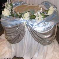 Reception, Flowers & Decor, Cakes, blue, cake, Wedding, Table, Rose, Petals, Baby, Nes weddings