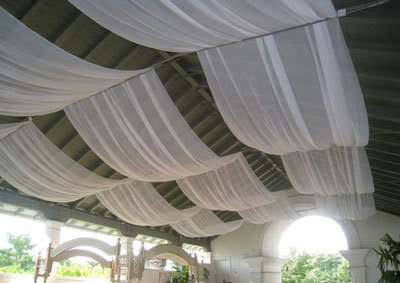 Wedding Reception Fabric Draping Sunnyside Pavillion At Lakeshorevendors NES Weddings