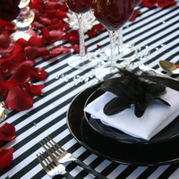 white, red, black, Roses, Event