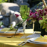 yellow, purple, green, Centerpiece, And, Lines
