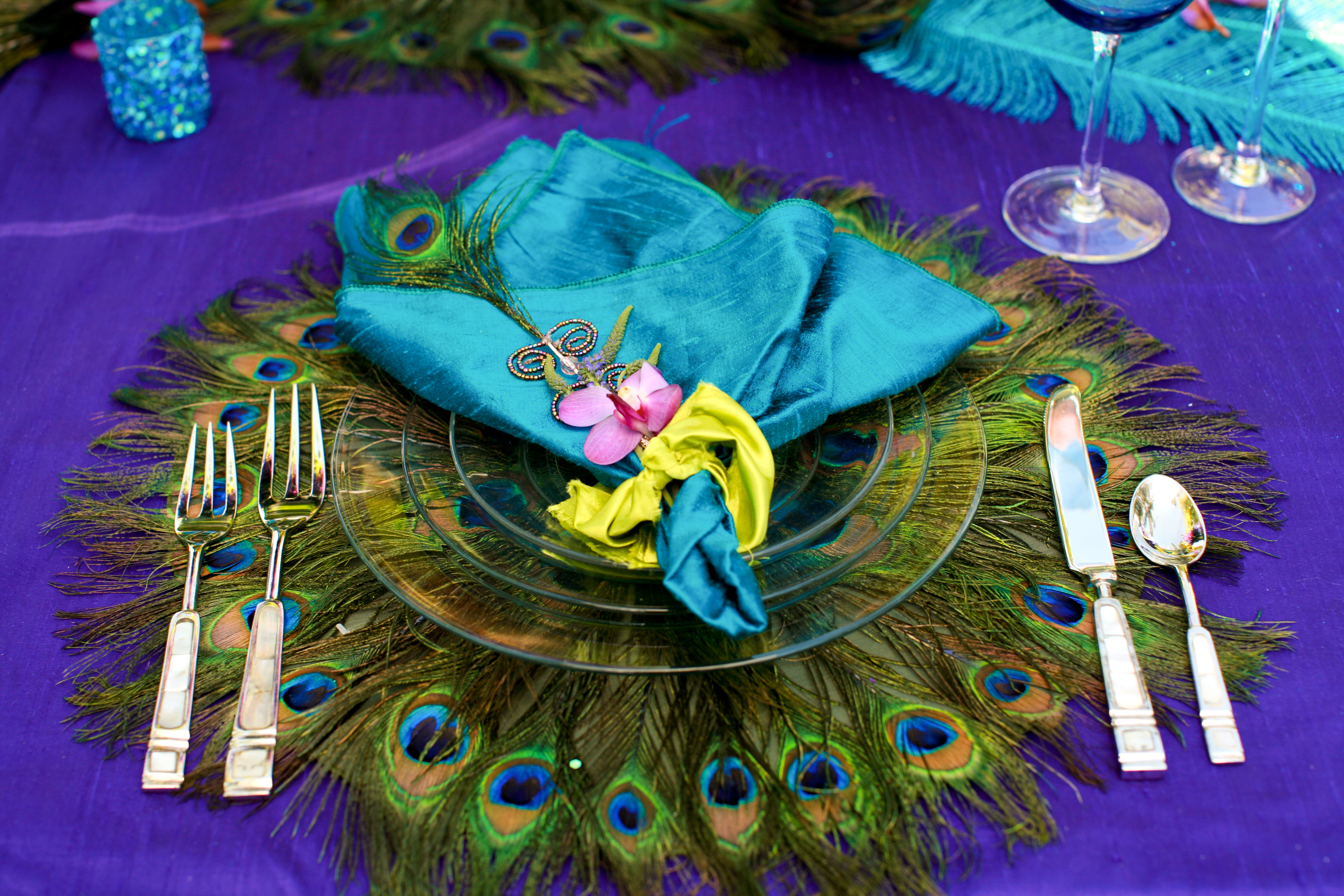 purple, blue, And, Linens