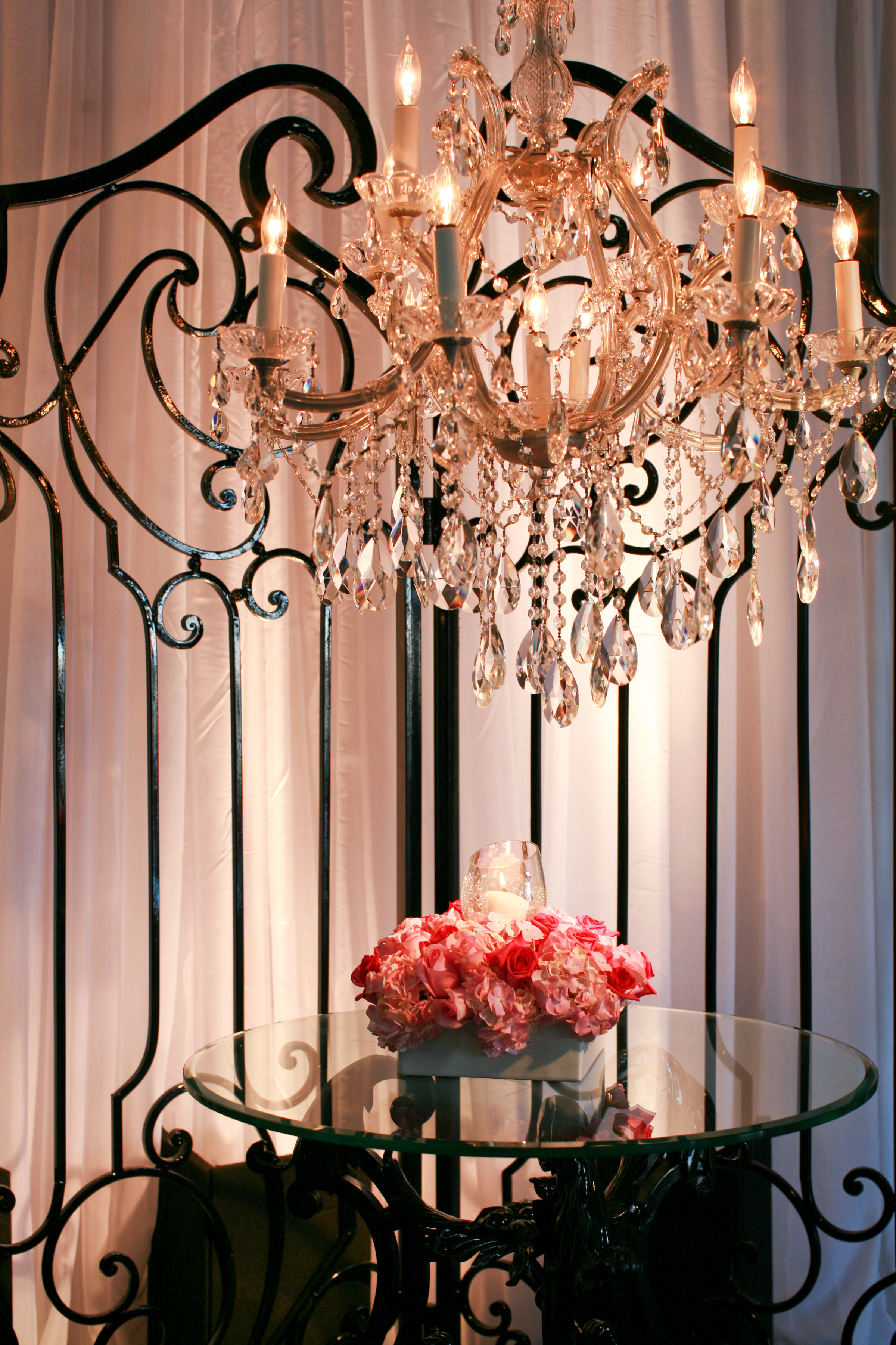 pink, black, Gothic, Linens, Event